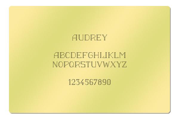 Gravur Schriftart Audrey
