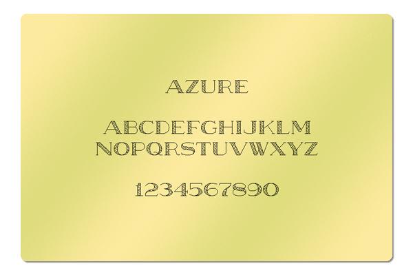 Gravur Schriftart Azure