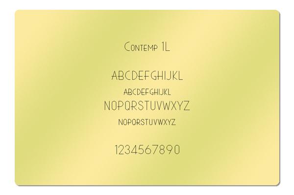 Gravur Schriftart Contemp 1L