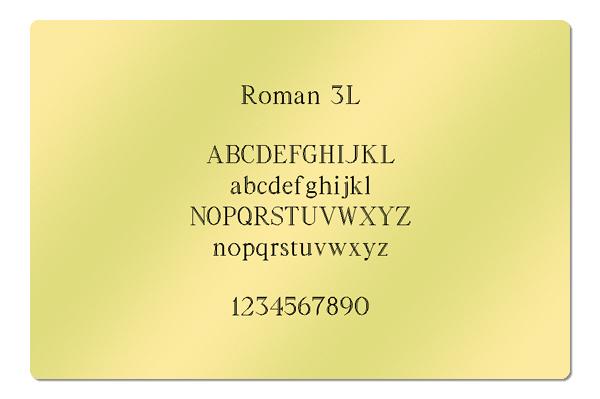 Gravur Schriftart Roman 3L