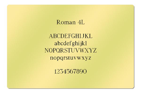 Gravur Schriftart Roman 4L