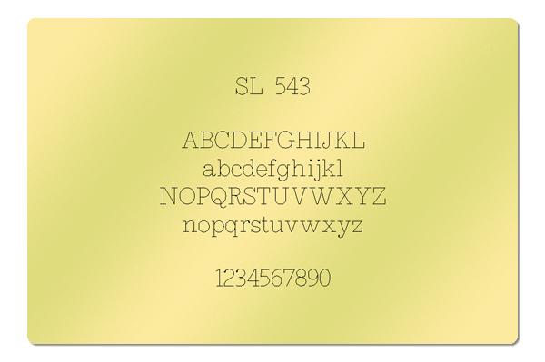 Gravur Schriftart SL 543